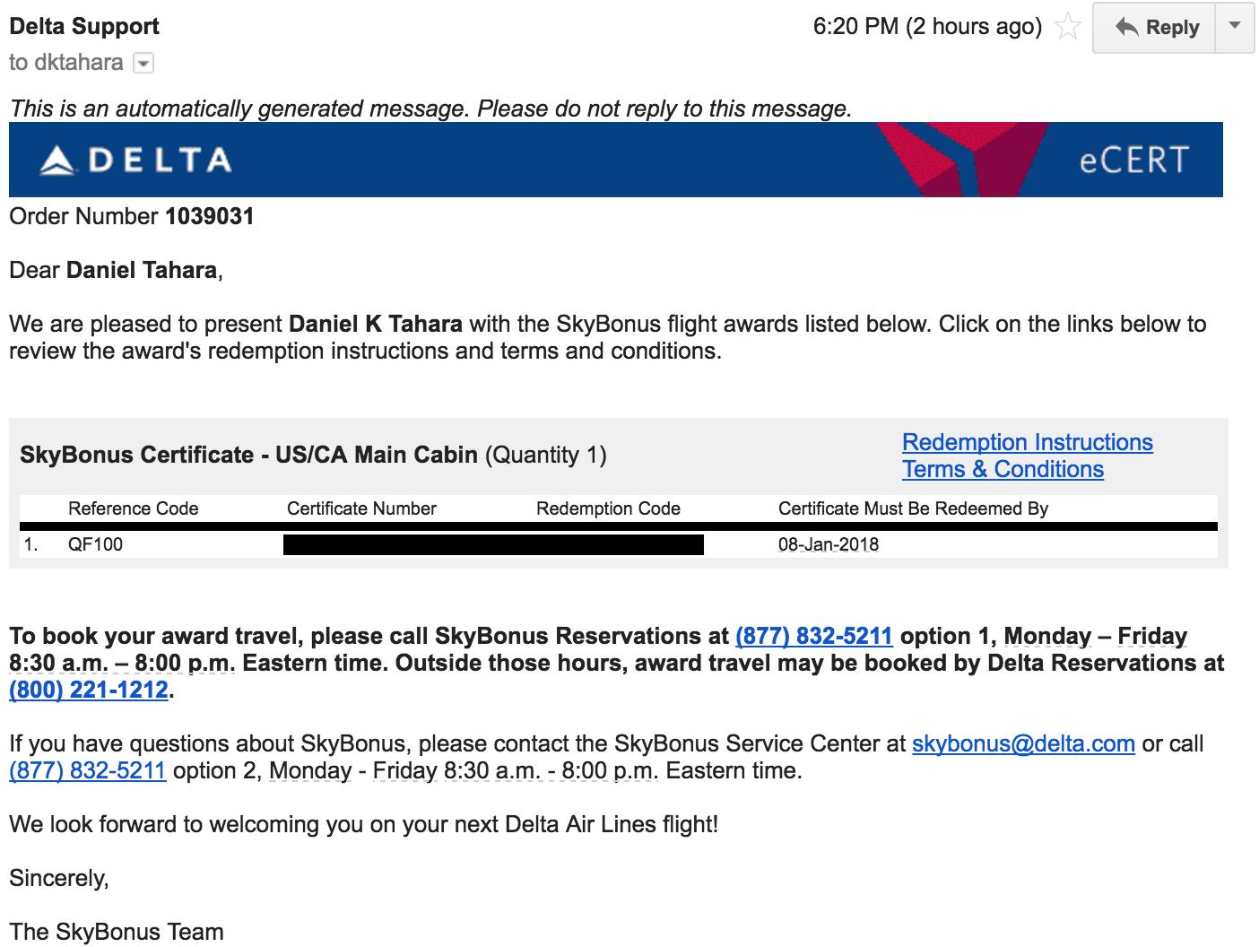 My Experience Booking a Delta Skybonus Award | DEM Flyers